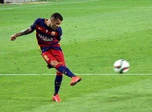 Dani Alves in El Clasico - Real Madrid vs FC Barcelona